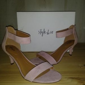 NEW Style & Co Pink Latte Heels 9M